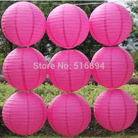 Hot sell Rose 10pcs/lot 8''(20cm) Round paper lantern festival wedding decoration party paper lanterns