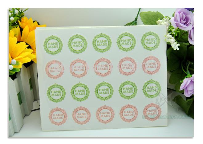 Wholesale Adhensive Sticker Label 25MM DIY Handmade Sticker Label Hand For Hand Made Gift /Cake /Candy 800pcs/lot(China (Mainland))