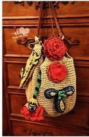Choke a small pepper straw beach bag 2013 new handbag rattan bag bohemian influx