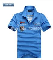 Free Ship Famous Brand Shark Men Polo Shirts Cotton Slim Short Sleeve Fashion Men Polos Summer Casual Sport Tees Wholesale