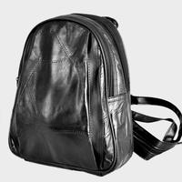Promotion ! 100% sheepskin genuine Leather Black Bag for women lady backpack Shoulder totes satchel goatskin casual Bags