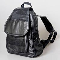 SALES ! 100% sheepskin genuine Leather Black backpack for women lady bag Shoulder totes satchel goatskin casual Bags