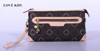 High Quality 2014 New Women Casual Messenger Bag Graceful Lady Plaid Zipper Wallet England Style Handbag Brand Designer Purses
