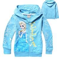 Frozen Elsa Children Outerwear & coats Brand Cartoon Jackets Winter Autumn Baby Kids Hoodies Girls Clothing Roupas Infantil