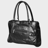 Promotion !  sheepskin genuine Leather Black Bag for women lady handbag Shoulder  satchel goatskin casual Bags