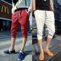 2014 new quality harem pants knee length trousers sweatpants outdoors drop crotch pants men baggy pants moletom masculino