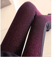 2014 New arrived bright silk imitation leather Patchwork WOmen's fashion leggings M L size #C0498