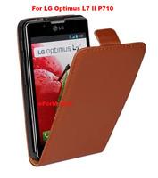 100% Genine Leather Case Flip Case Mobile Phone Case Cover  For LG Optimus L7 II P710