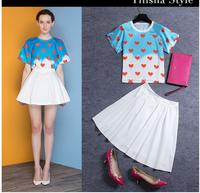 New arrival 2014 fashion women clothing short crop top and skirt set 2 piece set women skirt top sets