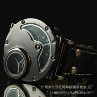 Wholesale 3ATM Waterproof  Watches Leather Gentlemen Mens Man Quartz Watch Wristwatch ,Fashion kind Men Luxury Sports watches