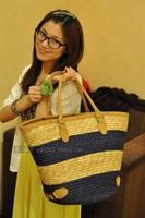 Bohemian retro leather exports woven straw beach bags rattan bag