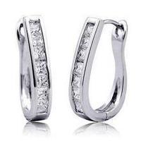 2014 New fashion star burst models AAA zircon U-shaped ear buckle clasp factory direct UmbilicariaGC0001