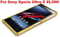 0.7mm Ultra Thin Aluminum Metal Bumper Case Buckle Closure Mobile Phone Bumper for Sony Xperia Z Ultra XL39H  C6802 C6833 C6806