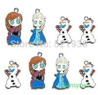 new sale 120 X frozen Elsa Anna & Olaf Metal Charms Pendants DIY Jewellery Making