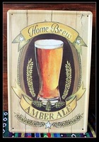 HOME BREW beer Painting Vintage Tin Sign Bar Pub Home Wall Decor Retro Metal Art Poster E-29