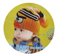 Free shipping 5pcs/lot hot sales Baby girl boy birds crochet hats Handmade knitted hat animal wool hats kids winter cap headgear