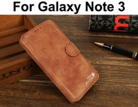 Matte Genuine Leather Wallet Stand Case For samsung Galaxy note 3 N9000 Phone Cases Bag With Golden Phoenix 100% Real Pouch