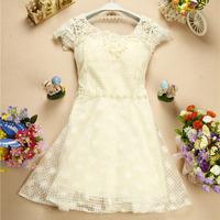New 2014 Appliques Lace Sweetheart Bridesmaid Dress Floral Beading Princess Dress Luxury Organza Bridesmaid Dress