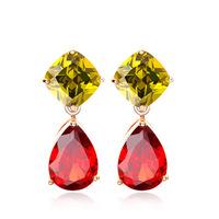 2014 New fashion Mona Lisa zircon earrings AAA