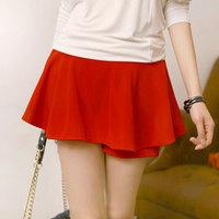 2014 Autumn New Korean Elegant Slim Solid Color Ball Gown Skirts Women Mid Waist Pantskirt 985# Free Shipping