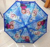 Free EMS NEW Frozen Umbrella Student Long-handle umbrella for children Frozen Princess Elsa & Anna Hanging Kids Umbrella