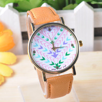 Sunflower's 100pcs/lot,Simple Personality DialMan Woman casual Watch Leather wrist Watch creative unisex Quartz Watches