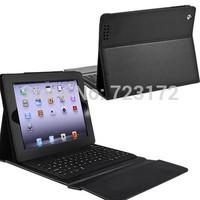 2in1 Bluetooth 3.0 Wireless Keyboard(Silicone keys) + PU leather case for ipad 4 ipad4 ipad 2 3 4&iphone