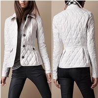 Hot Classic 2014 Women Fashion British Short Style Slim Fit Cotton Padded Coat/Designer Elegant Spring&Autumn Coat  #27010 M-XXL