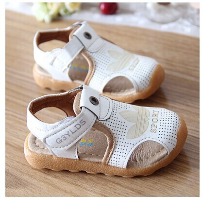 new 2014 fashion children sandals cow muscle soft bottom baby toddler shoes boys sandals summer shoes for child size 13-17.5(China (Mainland))