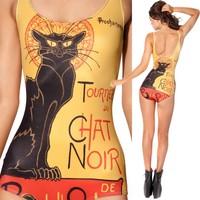 [YY021]New wholesale Summer dress 2014 Cartoon cat design sexy package Spot cute cartoon wetsuit,swimwears,swimwear women