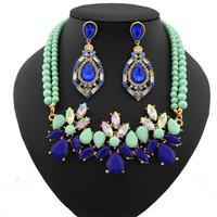 name brand crystal choker necklace Fashion wedding bridal jewelry sets Free shipping
