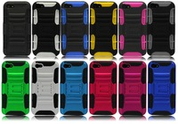 High quality 3 in 1 Hybrid PC Silicon combo rugged protective kickstand case cover for IPHONE 5 5S