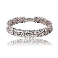 Genuine transparent rice-shaped AAA zircon bracelet 2014 lady luxury crystal bracelet  for women
