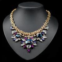 Luxury crystal chocker necklace chunky bee pendant chain women personality fashion jewelry