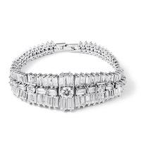 New fashion 2014 Luxury Dream dazzling bracelets ladder square AAA zircon crystal bracelet
