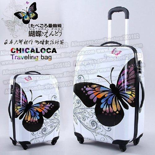 """20"""" 3pouce incroyable hot ventes japon. papillon, abs chariot valise bagages/tirage. tige. tronc./voyageur cas boîte avec roues spinner"""