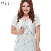 Msshe Special Offer Top Fasion Plus Size Clothing Kaross Formal Solid Color Sunscreen Shirt 2014 Summer Short Design Cardigan