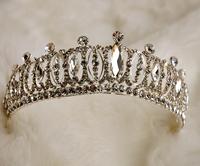 Rushed Tiaras Promotion Royal Free Shipping 2014 New Arrival High Quality Korean Rhinestone Sparkling For Tiara Wedding