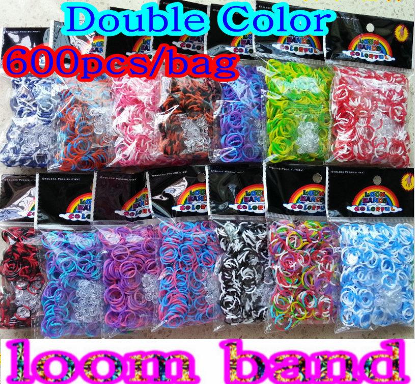 Tie Dye Loom Bracelet Double Color Tie Dye Loom