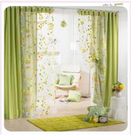 Curtain living room window shower room window gauze screening Country pastoral Style flower Width1meter*Height2.7meter