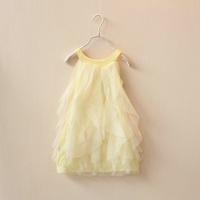 Free Shipping 2014 Newest 3-8 Year Sweet Girl's Chiffon Dresses Baby Girls Summer Dress Children's One-piece Dress Clothing Gift