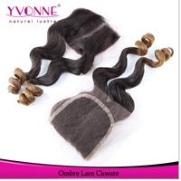 Brazilian Lace Closure,Loose Wave Ombre Color Closure,100% Human Hair,Aliexpress Yvonne Hair Top Closure 4x4
