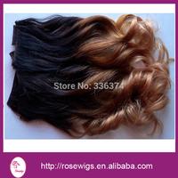 "Free Shipping!Hot Ombre Hair Extensions 5A Brazilian Ombre Virgin Hair Three Tone Human Hair #1B/4/27 Mixed Size10""-30"" 3pcs/lot"