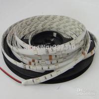 white PCB board 10mm flexible led strip lamp car waterproof 5050 smd 150 leds dc 12v
