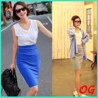 Fashion women summer knee-length formal career skirt for work OG-S5006