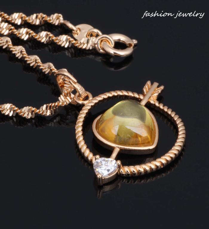 Ravishing Cupid of Love 18K Yellow gold Fashion Jewelry Morganite Necklaces pendants P200