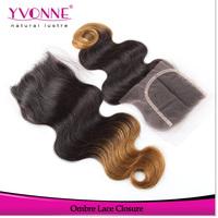Body Wave Ombre Color Closure,Brazilian Human Hair Lace Closure,Aliexpress Yvonne Hair Top Closure 4x4