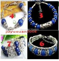 Wholesale 4PCS Tibet style jewelry Tibet Silver&lapis lazuli Beads Bracelets