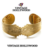 Vintage hollywood vintage carved openings wide bracelets