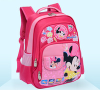 Quality Assurance Retail Lovely Children Girl School Bags 6~10 Years Kids Mickey Minnie Donald Duck Cartoon Backpack